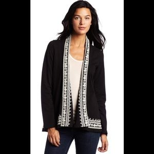 """Lucky Brand """"Whitney Wrap"""" embroidered cardigan"""